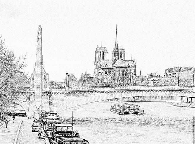 Coloriage et dessins gratuits Image de Pont réaliste à imprimer