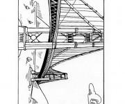 Coloriage Paysage de Pont