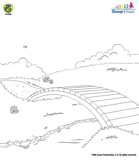 Coloriage et dessins gratuits Petit Pont en bois à imprimer