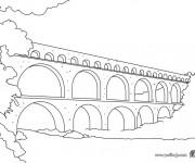 Coloriage dessin  Pont 2