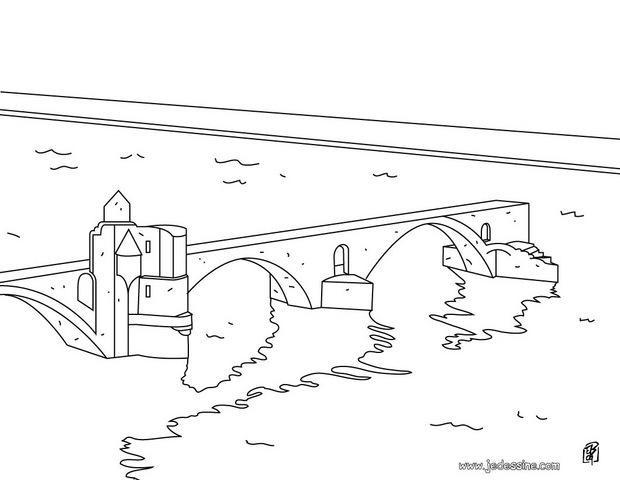 Coloriage et dessins gratuits Pont à colorier à imprimer