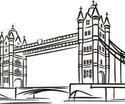 Coloriage Pont à Londres