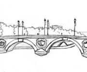 Coloriage Pont à Paris