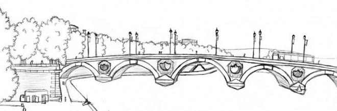 Coloriage et dessins gratuits Pont à Paris à imprimer