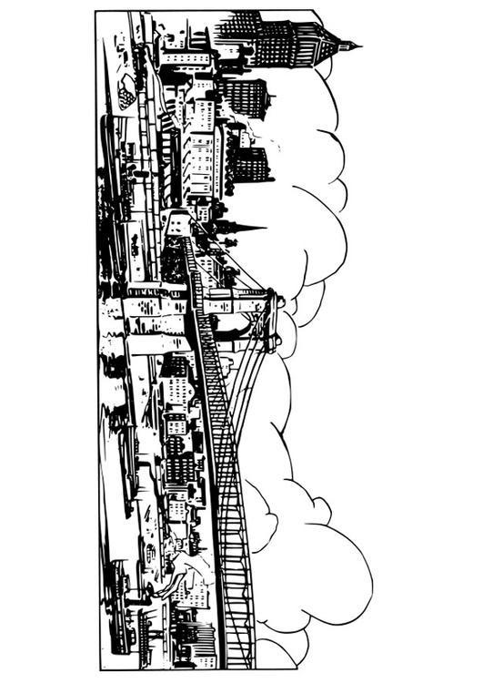 Coloriage et dessins gratuits Pont ancien à imprimer