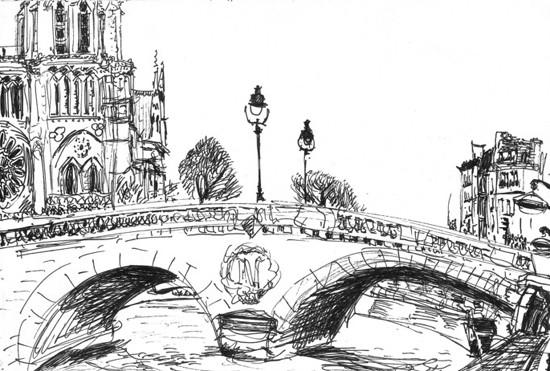Coloriage et dessins gratuits Pont ancien en Europe à imprimer