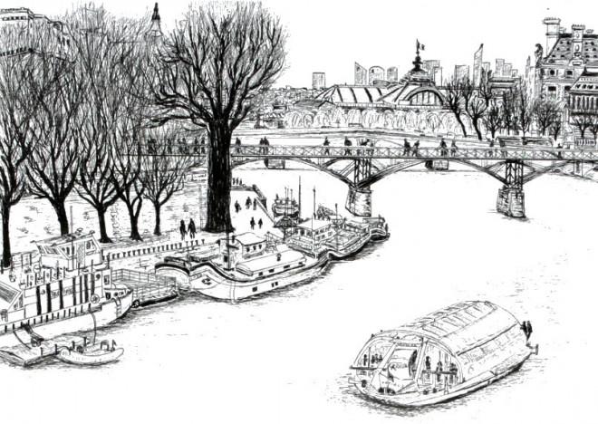 Coloriage et dessins gratuits Pont ancien maternelle à imprimer