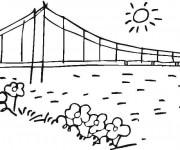 Coloriage Pont au crayon