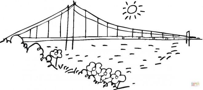 Coloriage et dessins gratuits Pont au crayon à imprimer