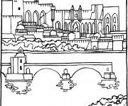 Coloriage et dessins gratuit Pont couleur à imprimer