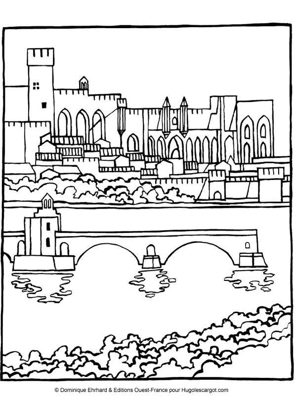 Coloriage et dessins gratuits Pont couleur à imprimer