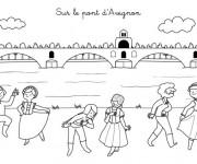 Coloriage et dessins gratuit Pont d'Avignon à imprimer