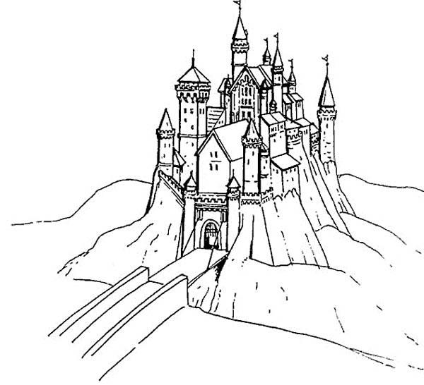 Coloriage et dessins gratuits Pont de Château à imprimer