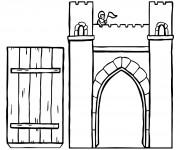 Coloriage Pont de Château couleur