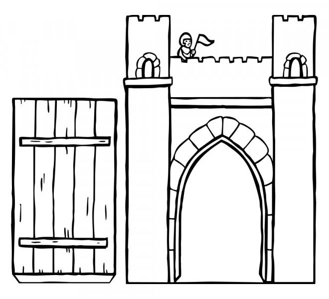 Coloriage et dessins gratuits Pont de Château couleur à imprimer