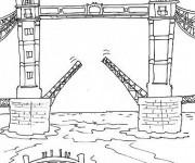 Coloriage Pont de Londres simple