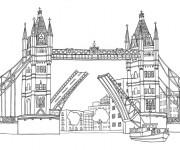 Coloriage Pont de Londres stylisé