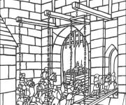 Coloriage et dessins gratuit Pont de Moyen Âge à imprimer