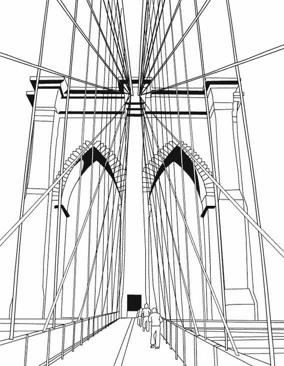 Coloriage et dessins gratuits Pont de New York à imprimer