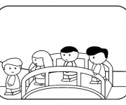 Coloriage et dessins gratuit Pont dessin animé à imprimer