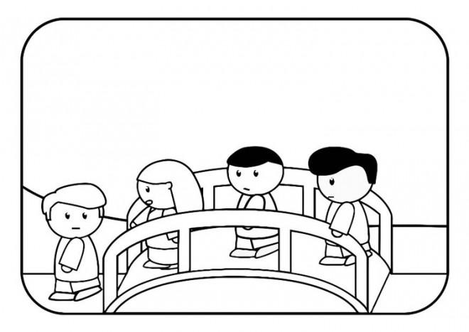 Coloriage et dessins gratuits Pont dessin animé à imprimer