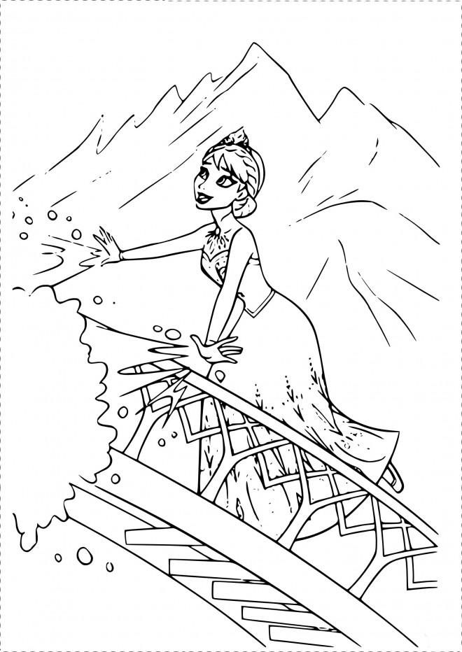 Coloriage et dessins gratuits Pont Disney à imprimer