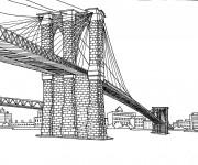 Coloriage Pont en Amérique