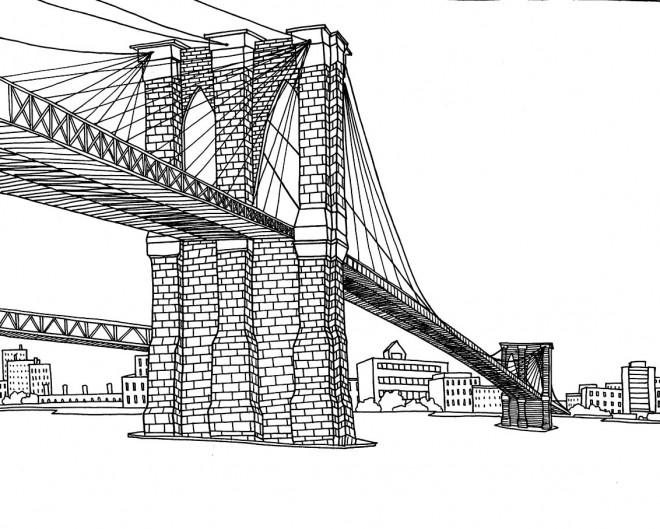 Coloriage et dessins gratuits Pont en Amérique à imprimer