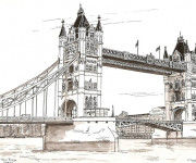 Coloriage Pont en Angleterre