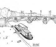 Coloriage Pont en France