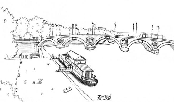 Coloriage et dessins gratuits Pont en France à imprimer