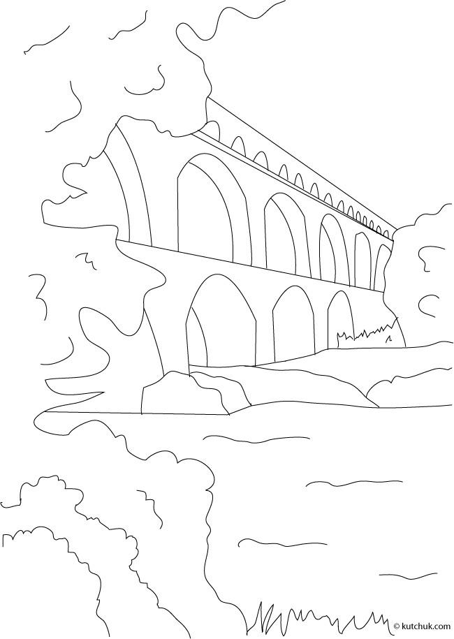 Coloriage et dessins gratuits Pont en ligne à imprimer