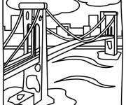 Coloriage Pont en noir et blanc