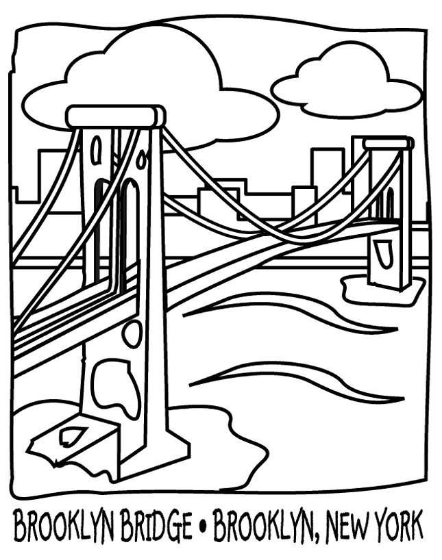 Coloriage et dessins gratuits Pont en noir et blanc à imprimer