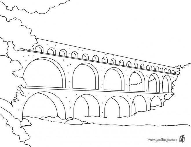 Coloriage et dessins gratuits Pont facile à imprimer
