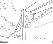 Coloriage et dessins gratuit Pont géant à imprimer