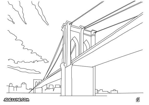 Coloriage et dessins gratuits Pont géant à imprimer