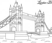 Coloriage Pont Londres en couleur