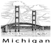 Coloriage Pont Michigan