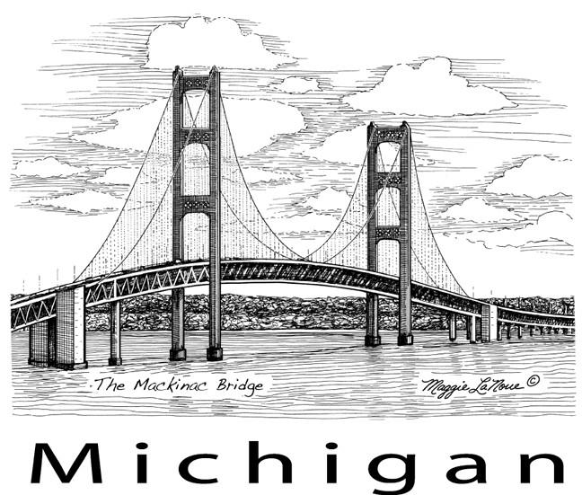 Coloriage et dessins gratuits Pont Michigan à imprimer