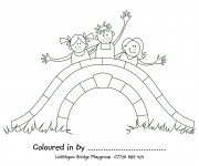 Coloriage et dessins gratuit Pont pour enfant à imprimer
