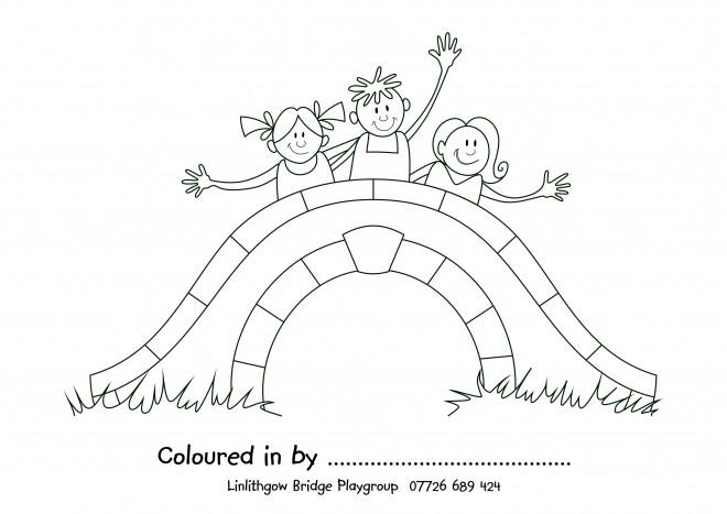 Coloriage et dessins gratuits Pont pour enfant à imprimer