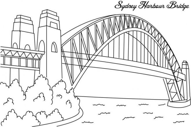 Coloriage et dessins gratuits Pont Sidney à imprimer