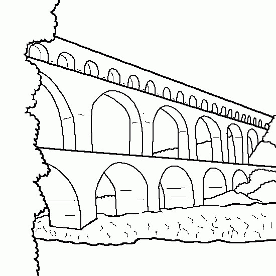 Coloriage et dessins gratuits Pont simple à imprimer