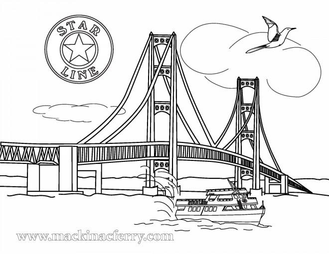 Coloriage et dessins gratuits Pont sur La Mer à imprimer