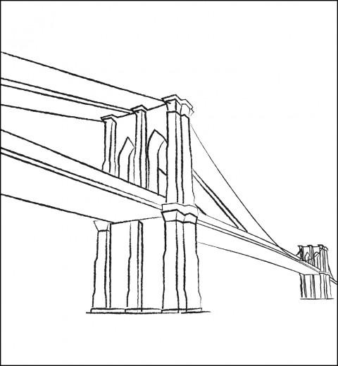 Coloriage et dessins gratuits Pont vecteur à imprimer