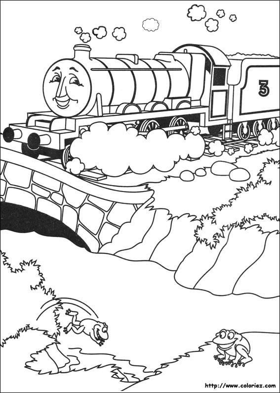Coloriage et dessins gratuits Train magique sur Le Pont à imprimer