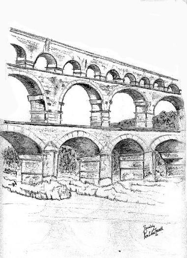 Coloriage et dessins gratuits Un haut Pont au crayon à imprimer