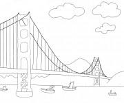 Coloriage et dessins gratuit Un Pont en perspective à imprimer