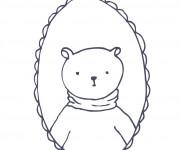 Coloriage dessin  Portrait 8